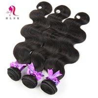 beauty products lot - Brazilian Beauty Body Wave Hair Extensions Silk Brazilian Virgin Hair Products Natural Black HLSK Queen Hair Bundles