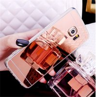 Wholesale iphone TPU Mirror Case ultrathin plating soft clear mirror back Covers cases for iPhone plus samsung s5 s6 s7 edge huawei p8 sony