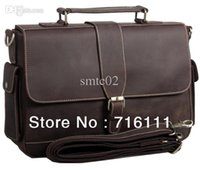 abs bulls - HK post Mens Vintage Bull Real Leather handbag tote Briefcase Messenger Bag
