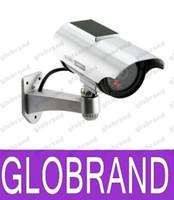 Wholesale Solar Power Imitation High Simulation Home CCTV Security Dummy Camera Fake Bullet Waterproof Outdoor Surveillance Cameras GLO618