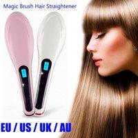 Wholesale Beautiful Star HQT Hair Straightener NASV Flat Iron LCD Straightening Digital Temperature Controls hair straightener brush comb