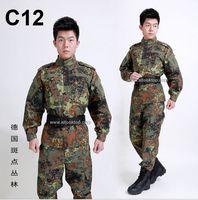 army combat uniform - German flecktarn camo military uniform camouflage suit CS paintball army clothing emerson combat shirt pants tactical jacket