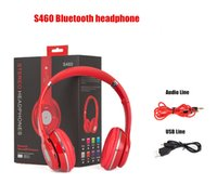 Wholesale New Bluetooth Headphones STEREO Headset S460 wireless On ear Headsets Earphones TF card with FM volume control and microphone DHL Free