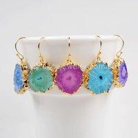 adorable earrings - Hot Sale Fashion Gold Drop Earrings For Women Adorable Solar Quartz Earrings Quartz fashion Drop Earrings for Women GiftG0368