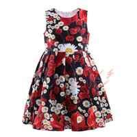 american retro dress - Pettigirl New Retro Printed Girl Dresses Floral Print Sleeveless A line Dress for year Girls GD81004 Z