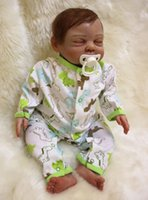 """Cheap 20"""" Real sleeping reborn babies dolls silicone newborn baby exquistite high quality best children lover gift bonecas reborn"""