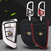 Wholesale Premium Leather Remote Key Holder Fob Case Cover For BMW X1 X3 X4 X5 X6 Series Series