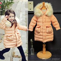 Wholesale Amber berry age3 Children Winter Clothing Ski Jacket girls snowsuit parka hooded cotton clothes Baby outerwear Kids Children s Down