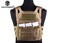 Wholesale Airsoft Combat Vests Jumper Carrier JPC Vest Emersongear Simplified Version Airsoft Combat Gear Coyote Brown CB