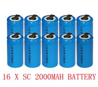 Sub C battery tab sub c - 20 OFF Sub C size V SC Ni Mh rechargeable battery cell mah with tab top quality