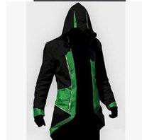 Wholesale 2016 Hot Sale Assassins Creed III Conner Kenway Hoodie Coat Jacket Cosplay Costume