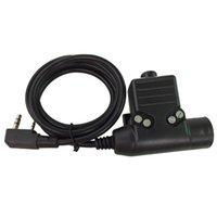 Wholesale U94 PTT Cable Plug for Z Tactical Bowman Elite II HD01 HD02 Headset Earpiece for Kenwood Pin Radio Walkie Talkie