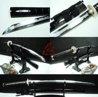 Wholesale Battle Ready Clay tempered abrasive sanmai blade japan katana sliver fitting sharpened sword