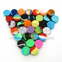 Wholesale 100pcs ml mini assorted color silicone container for Dabs Round Shape Silicone Containers wax ZD083