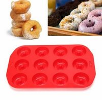 Wholesale Cavity Silicone Doughnut Cake Mold Pudding Biscuit Baking Mold Mould Easy to release and to clean