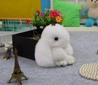Wholesale Rabbit pendant Cute rabbit Play dead Multiple Colour Rex fur Bag pendant Car key ring Couples pendant Cute pendant household goods