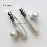 Wholesale 6ml black perfume atomizer silver perfume atomiser refillable travel size perfume bottle in stock