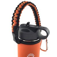 Wholesale Gift Hydro Flask Handle Flaskars Paracord Carrier Survival Strap Cord with Safety Ring and Carabiner Fit for Hydro Flask Water Bottles