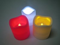 Wholesale 48pcs Electronic LED Candle Flickering Tea Light Xmas Wedding Party Flameless Flickering Tea Light indoor outdoor use