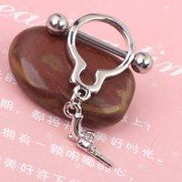 Precio de Pendientes del pezón-Redonda Manillas Nipple anillo de piercing joyería del cuerpo 14G de níquel libre de acero inoxidable joyas mujer pendiente