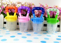 Wholesale Hot Safe Baby Kids Infant Nipple Pacifiers Supplies Food Milk Fruits Feeding Tools Silicone Plastic