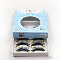 Wholesale Hand made False Eyelashes pairs box Natural and Thick Soft Fack Eye Fash Makeup Eyelashes DHL
