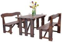 Wholesale Outdoor Furniture Wooden Garden Chairs And Desk