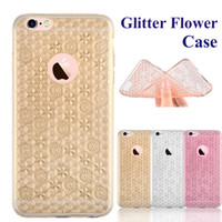 apple slices - For Iphone S Cases Glitter Flower Case Ultra thin Bling Bling Case Soft TPU Inner Gleamy Sliver Slice For Samsung S7 S7 Edge S SCA219