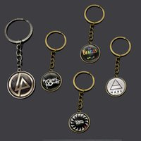 beatles band pictures - Rock band art picture pendant keychain key ring gift for fans the linkin park Beatles My chemical romance