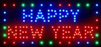 Wholesale 2016 Direct Selling custom Graphics inch Indoor Ultra Bright flashing Happy New Year neon signboard of Led