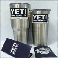 Wholesale 20 oz YETI Tumbler Rambler Cups Yeti Rambler Tumbler Stainless Steel oz Mugs Large Capacity Stainless Steel Travel Mug free DHL