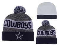 Wholesale Cheap Football Beanies Men s Cowboys Heather Gray Sideline Official Sport Knit Hat Dallas Knitted Hats Hottest Sports Team Skull Caps