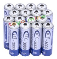 alkaline aa battery - Power Source Rechargeable Batteries x AA mAh V Ni MH rechargeable battery BTY cell for Toys Camera MP3 RC
