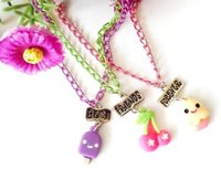 best party foods - Best Friends Forever BFF pendant link chain necklace fast food ice cream cherry colorful pc necklace cute lovely kids jewelry