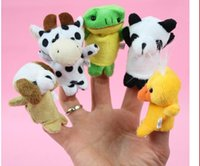 Wholesale Plush Toy Cartoon Animal Finger Puppet Old Macdonald had a farm toys Animal finger doll enjoyable puzzle finger doll fit for children adults