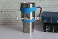Wholesale new product plastic handle for oz yeti tumbler handle fit for outdoor travel beer mug hand holder for car cup colored handles