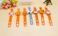Wholesale Halloween Gift Toys Cartoon Luminous Wrist Band LED Watch Flashing Wrist Bracelet Light Luminous Hand Ring Pumpkin Wrist Band