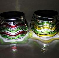blow made bars inlay - Glass Jars Graden Solar Table Light Glass Votive for Bar Wedding Birthday Holiday Home Decoration