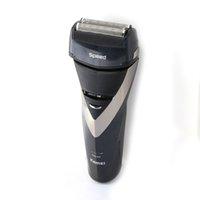 Al por menor Kemei KE-8102 Electronic máquina de afeitar alternativa de la maquinilla de afeitar de afeitar eléctrica triple cuchilla de afeitar maquinillas de afeitar impermeable 3D que flota 0604065