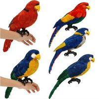 artificial parrots - Artificial Plastic Parrot Animal Decor Handicraft Garden Landscape Ornament Suitable for outdoor decoration photography