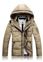 Wholesale New Mens Winter Hooded Coat Warm Down Jacket Waterproof Jackets Men Clothing Hot Sale