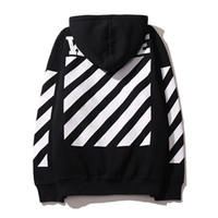 Men belt mens branded - 2016 OFF WHITE mens pullover stripe offset print hoodies fleece Sweatshirts brand HBA Vision religion painting VIRGIL ABLOH