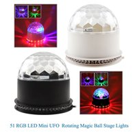 auto light manufacturer - manufacturers direct supply RGB LED Mini UFO magic ball stage lights KTV bars Disco family gathering effect light