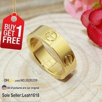 Wholesale Love Series Rings Yellow Gold New Version Fashion Jewelry Brand Gifts For Women Men K Gold Plated With Box