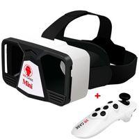 Wholesale VR Case Mini Remote Controller Google Cardboard VR Mini realidad Virtual Reality D Glasses Gafas d Better Than Shinecon VR