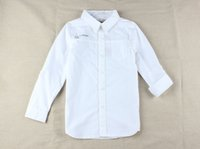 Wholesale PEU DHERBE BOYS KIDS SHIRT BUTTON CLOSED LONG SLEEVE POPLIN