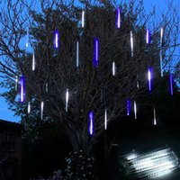 animal shower curtains - 80cm LED RGB Mini LED Meteor Shower String Lights for Wedding Party Christmas RGB LED Waterproof Meteor Lights for Outdoors Lighting