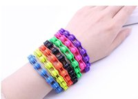 bicycle clubs - Candy colored alloy bicycle chain bracelet Punk style bracelet Women s cycling club chain jewelry Christmas gifts