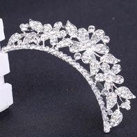 Wholesale New Bridal Wedding Hair Jewelry Diamond Tiaras Crystal Flower Crown Hair Combs Hair Accessories DHL Free