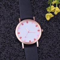 benefit blue - Wholesales Fashion New Style Ladies Wristwatch Women Leather Quartz Dress Watches Casual Rose Gold Case Wristwatches for Company Benefits
